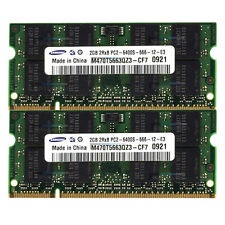 Samsung Ram così DIMM ddr2 pc2 4gb (2gbx2) 6400s 200pin 800mhz Laptop memoria [8]