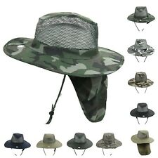 Bucket Military Hunting Hiking Fishing Garden Boonie Neck Cover Sun Flap CAP