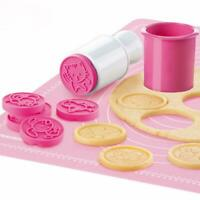 6 Rose Flower Stamps Moon Cake Decor Mould Round Mooncake Mold Baking Tools DIY