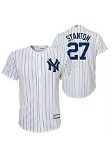 New York Yankees Giancarlo Stanton Youth L White Pinstripe Jersey 14/16 Majestic