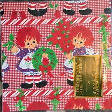 Vintage Hallmark Raggedy Anne Christmas Wrapping Paper