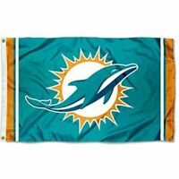 NEW Miami Dolphins Flag Large 3'X5' NFL Banner FREE SHIPPING