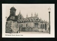 Caribbean Cuba HAVANA Old Spanish Church Cunard Liners c1920/30s? RP PPC