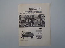 advertising Pubblicità 1963 INNOCENTI 950 SPIDER SPYDER