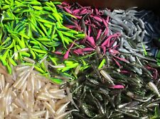 """50ct ASSORTED MIXTURE 2"""" STINGER SHAD GRUBS,Crappie,Trout Lures,Quiver Tail"""