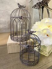 Lot Of 2 - Metal Birdhouses Med/ Small - New Decorative Farmhouse style