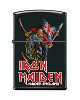 Zippo 8555 Iron Maiden Maiden England Black Matte Finish Full Size Lighter