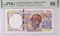Central African States Guinea 5000 Francs 1995 P 504Nb Gem UNC PMG 66 EPQ