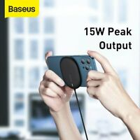 Baseus For iPhone 12 12 Pro Max 15W Magnetic Wireless Ultra-thin Fast Charger UK
