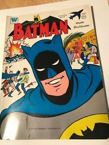 "1966 WHITMAN ""BATMAN MEETS BLOCKBUSTER"" COLORING BOOK IN VF CONDITION."