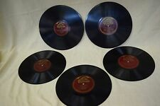Lot 18:  Antique Red Label Victrola Single-sided Records phonograph 78s