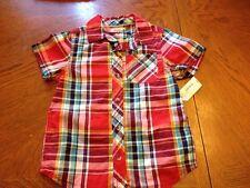 Arizona Jeans Boys size 5 Plaid shirt NWT Red, Green, Blue