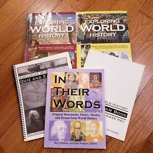 Complete Set Exploring World History 1 & 2 + In Their Words Ray Notgrass