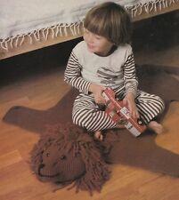 Crochet Pattern ~ Kids Lion Rug ~ Instructions