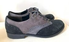 Gabor Ladies Shoes 5.5 Lace up Suede Brogues Smart Casual Work Grey Black