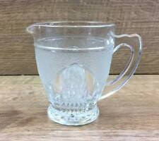 Vintage Small Frosted Pressed Glass Jug 95mm Tall