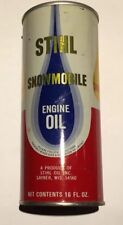 VINTAGE STIHL SNOWMOBILE ENGINE OIL ADVERTISING CAN ~ FULL 16 OUNCE OIL CAN ~