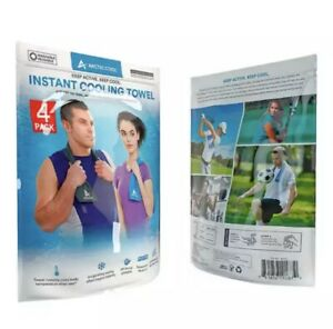 Arctic Cool Cooling Towel 4 Pack Brand New - Free Shipping
