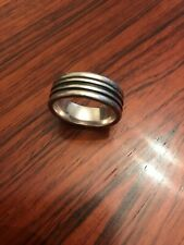 RETIRED JAMES AVERY SOLID Sterling Silver 925 Banded Men's Wedding Ring Sz- 10