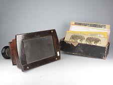 Holz Stereobetrachter / wooden stereoscope 81016