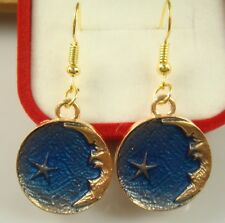 "In Love lightning Lady Earrings T7uSd 18K gilded Hook -2.4""stars moon Heart Fall"