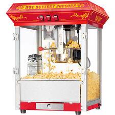 Red Retro 8-Oz Countertop Popcorn Machine, Oil Kettle Commercial Pop Corn Maker