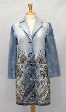 Express Embroidered Embellish Rhinestones Trench Denim Long Jacket Coat Size 7/8