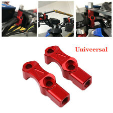 "Motorcycle 7/8"" Handlebar Brake Pump Fixed Block Extend Riser Bar Clamp Mount"