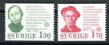Briefmarken Schweden 1980 Bedeutende Persönlichkeiten 1106 - 1107 ** BR274
