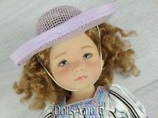 """2 WOVEN DOLL HATS PURPLE  5"""" FITS EFFNER, ELLOWYNE AND MORE"""