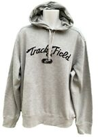 NEW NIKE Sportswear NSW Vintage Track and Field Cotton Pullover Hoodie Grey XL