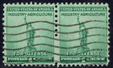 United States Sc# 899b Used Partial Imperf Horizontal Pair Stamps