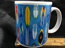 Surf's Up Surf Boards Wraparound Surfer Ceramic Coffee Mug Cup ABC Stores Hawaii