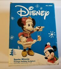 "Disney Santa Minnie Vintage Holiday Sculpture Hand-Made Hand-Painted 9"" Tall"