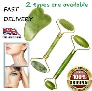 Roller Jade Face Facial Massage Tool Beauty Neck Body Therapy Anti Ageing Natura