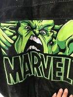 2002 Incredible Hulk Leather Jacket Marvel Big Logo Excelled Avengers Comic Men