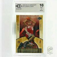 2005-06 UPPER DECK HARDCOURT  #14 LEBRON JAMES CARD BGS BCCG 10 Mint+