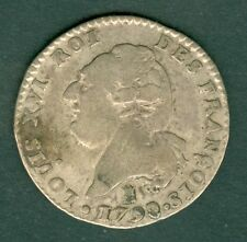 MONNAIE ARGENT LOUIS XVI 15 SOLS 1792 I  TB     N° 300