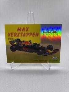 10/50 MAX VERSTAPPEN 2020 Topps Chrome Formula 1 Wheels Gold Refractor #54W5 F1