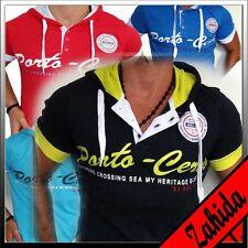 Polo Herren T-Shirt Kurzarm Hoodie Rot Weiss Schwarz Sweatshirt S M L XL t.6.1