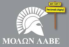 Molon Labe Greek Military Gadsden Flag Don't Tread On Me Decal Made in USA GN41