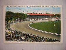 VINTAGE POSTCARD THE NEW GRANDSTAND & RACE TRACK AT YORK FAIR GROUND IN YORK, PA