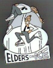 ELDERS ON ICE FIGURE SKATING UTAH LAPEL PIN MORMON MISSIONARY UTAH SALT LAKE CIT