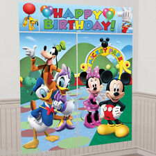 Disney Mickey Mouse Cumpleaños Scene Setter complemento Banner Decoración De Pared Kit