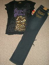 NWT APPLE BOTTOMS EMBROIDERED BOOTCUT JEANS & TOP OUTFIT SET WOMEN PLUS SZ 2X 18