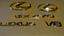 04-09 OEM NEW LEXUS GX470 V8 EMBLEM KIT SET CHROME COMPLETE GRILLE TRUCK VEHICLE