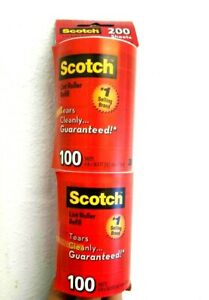 Scotch-Brite Lint Roller Refill Tears Cleanly Sticky experts 100 sheets x 2 pk