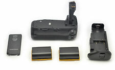 2x LP-E6 + BG-E14 Multi Power Battery Grip for Canon EOS 70D DSLR Camera