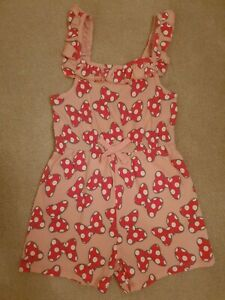 Minnie Mouse Girls Pink Navy Pack of 2 Playsuits 18 To 24 Months