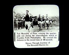 2 Magic Lantern Slides Ted Meredith & Harold Berry Penn State Track Meet 1915 PA